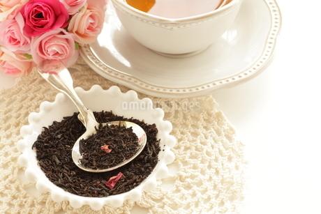 ローズ紅茶リーフの写真素材 [FYI02991285]