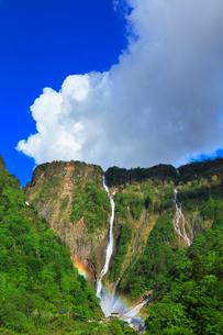 称名峡谷 ハンノキ滝と虹の写真素材 [FYI02991411]