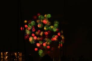 夜空の花火の写真素材 [FYI02992402]