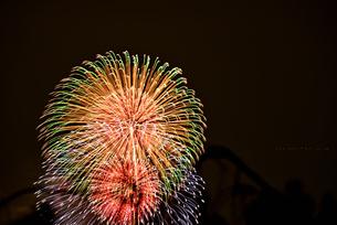 夜空の花火の写真素材 [FYI02992405]