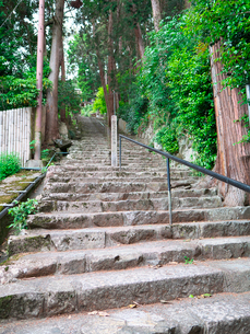 長命寺の石段の写真素材 [FYI02992406]
