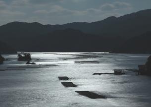 月光染まる三重の入江の写真素材 [FYI02992941]
