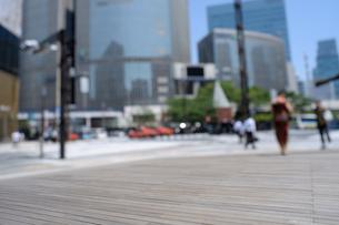ボードウオークと数寄屋橋交差点の写真素材 [FYI02993248]