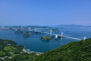 亀老山展望台からの来島海峡大橋の写真素材 [FYI02993374]