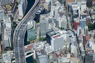 首都空撮日本橋蛎殻町周辺の写真素材 [FYI02993596]