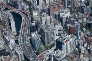 首都空撮日本橋蛎殻町周辺の写真素材 [FYI02993599]