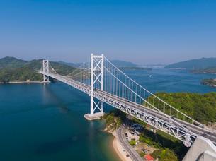 ドローンによるしまなみ海道の因島大橋の写真素材 [FYI02993605]