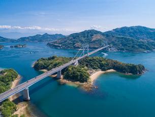 ドローンによるしまなみ海道の伯方・大島大橋の写真素材 [FYI02993625]