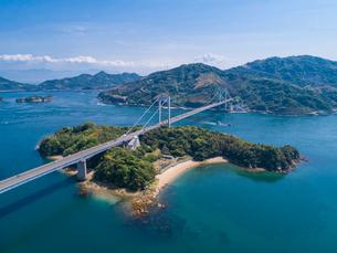 ドローンによるしまなみ海道の伯方・大島大橋の写真素材 [FYI02993626]