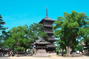 善通寺の五重塔と鐘楼の写真素材 [FYI02993646]