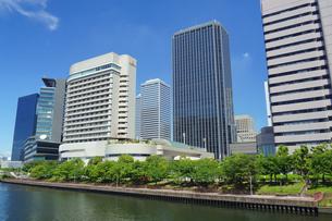 大阪ビジネスパークのビル並みの写真素材 [FYI02994446]