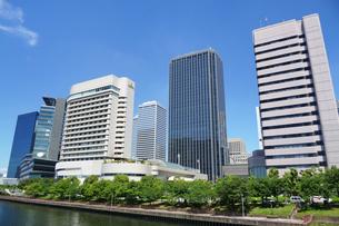 大阪ビジネスパークのビル並みの写真素材 [FYI02994448]