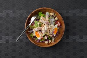 皿に盛ったシーザーサラダの写真素材 [FYI02995248]