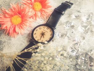 腕時計と花の写真素材 [FYI02995362]