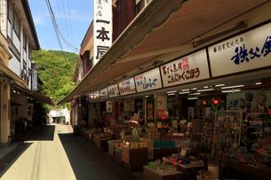 長瀞 岩畳通り商店街の写真素材 [FYI02995382]