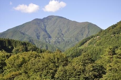 青根から眺める大室山の写真素材 [FYI02995463]