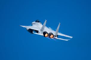 F-15戦闘機 ベイパー アフターバーナーの写真素材 [FYI02995628]