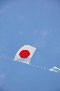 青空に翻る万国旗の写真素材 [FYI02996229]