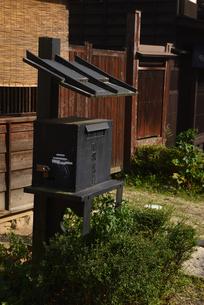 黒ポスト 妻籠宿の写真素材 [FYI02996416]