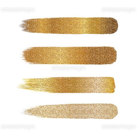 金色 ラメ ブラシ セットのイラスト素材 [FYI02996681]