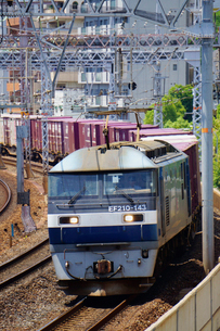 JR神戸線の貨物列車の写真素材 [FYI02996817]