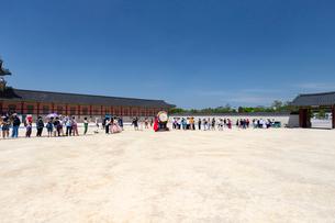景福宮のクァンファムン(光化門)前チョオム(初厳)の写真素材 [FYI02996987]