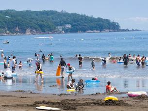 神奈川県 湯河原海水浴場の写真素材 [FYI02997044]