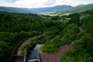 中野方ダムからの眺めの写真素材 [FYI02997239]
