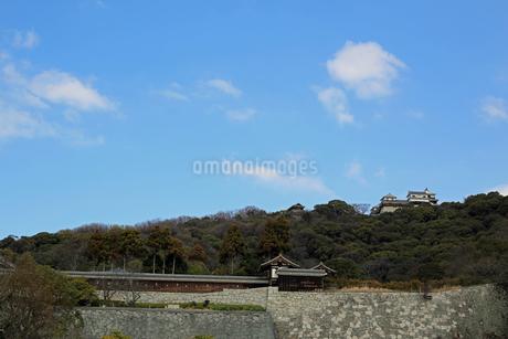 堀之内からの松山城の写真素材 [FYI02997244]
