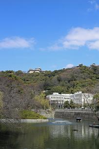 堀之内からの松山城の写真素材 [FYI02997248]