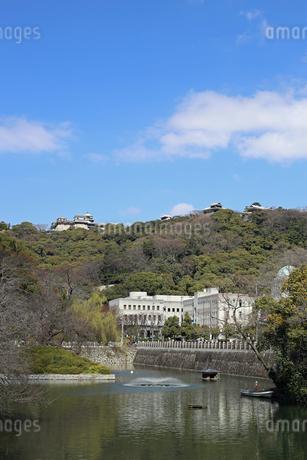 堀之内からの松山城の写真素材 [FYI02997249]