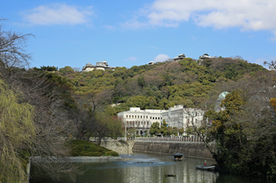 堀之内からの松山城の写真素材 [FYI02997250]