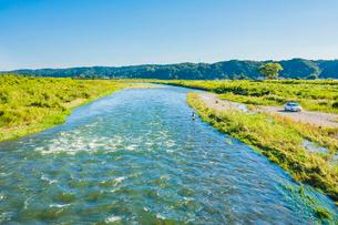 荒川の鮎釣り 栃木県の写真素材 [FYI02997456]