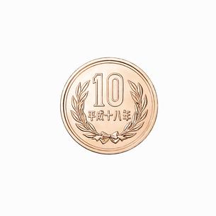 10円玉の裏の写真素材 [FYI02997659]