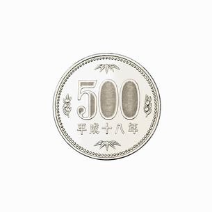 500円玉の裏の写真素材 [FYI02997660]