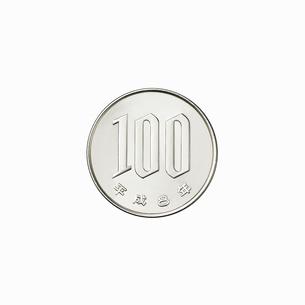 100円玉の裏の写真素材 [FYI02997661]