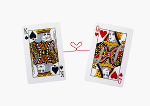 キングとクイーンのトランプの写真素材 [FYI02997672]