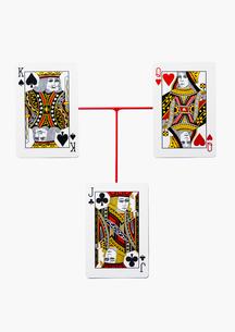 キングとクイーンのトランプの写真素材 [FYI02997674]