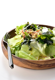 白い背景のサラダの写真素材 [FYI02998649]