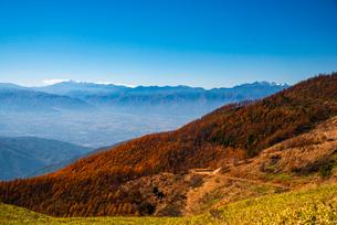 美ケ原より乗鞍岳穂高連峰を望むの写真素材 [FYI02998720]