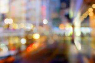 街並みの夜景の写真素材 [FYI02998839]