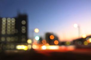 街並みの夜景の写真素材 [FYI02998842]