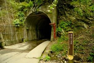 寸又峡プロムナードコースの天子のトンネルの写真素材 [FYI02999292]