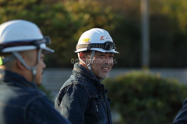 工事現場の作業員の写真素材 [FYI02999559]