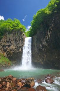 新緑の苗名滝の写真素材 [FYI02999620]