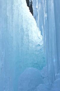 尾ノ内渓谷の氷柱の写真素材 [FYI03000689]