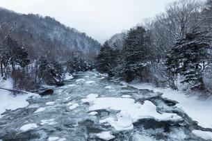 雪の竜頭の滝の写真素材 [FYI03002207]