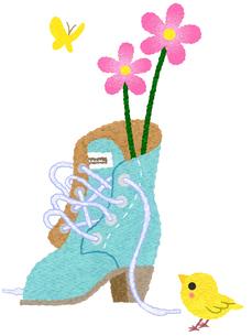 ブーツの挿し花のイラスト素材 [FYI03003678]