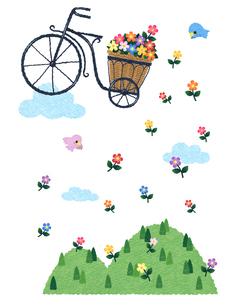 花かご自転車のイラスト素材 [FYI03003680]