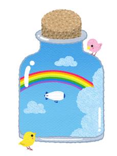 虹の瓶詰めのイラスト素材 [FYI03003688]